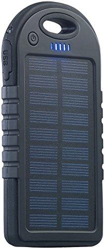 reVolt Solar Bank: Solar-Powerbank mit 4.000 mAh & Taschenlampe, 2X USB, bis 2 A, 10 Watt (Powerbank-Lampen)