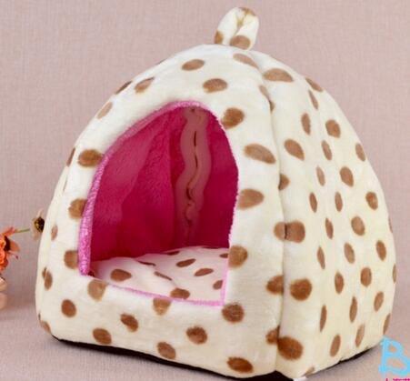 icase4u® camita casa cama para animal pequeño mascotas perrito y gatito, size s 27x27x28cm (B-blanco)