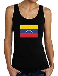 Teeburon Venezuela Flag Camiseta de tirantes mujer