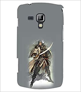 PrintDhaba Warrior D-1034 Back Case Cover for SAMSUNG GALAXY S DUOS 2 S7582 (Multi-Coloured)