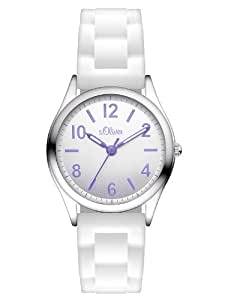s.Oliver Mädchen-Armbanduhr Analog Quarz Silikon SO-2636-PQ