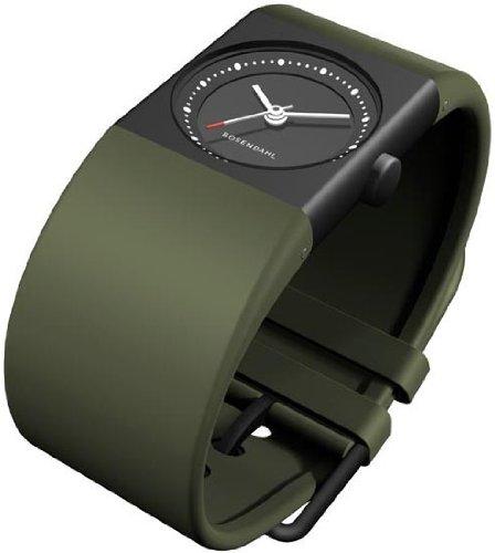Rosendahl 43263 - Reloj de mujer de cuarzo, correa de caucho color verde