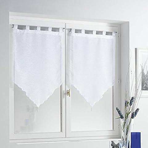 Douceur d'Intérieur Paire Pompon Voile Sable Lissea Polyester Blanc 90 x 45 x 90 cm