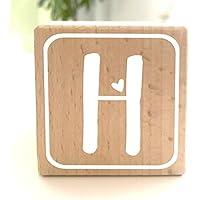 Holzwürfel mit Buchstabe H