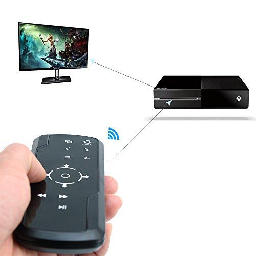 Fletion Multimedia 2,4 G Infrarot Wireless Game Media Universal-Fernbedienung mit automatischem Schlaf-/Energiesparmodus für Microsoft Xbox One Konsole, Blu-ray DVD