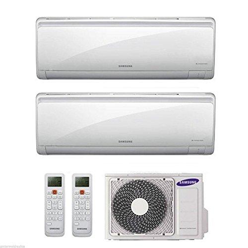 Klimaanlage Samsung Maldives 9+9 Dual Split Inverter, 9000 + 9000 BTU, Energieeffizienzklasse A++, Wärmepumpe AJ040FCJ2