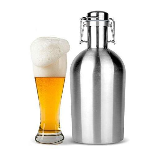 Anddod Beer Growler 64oz Swing Top Hip Flask Ultimate Growler 1.9L Botella Bottle (Beer Growler 64)