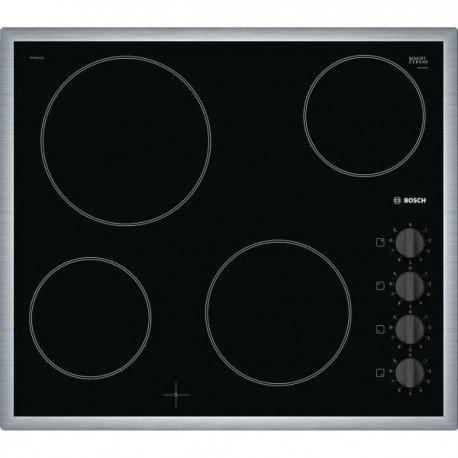 Bosch Serie 2 PKE645CA1E plaque Noir Intégré Céramique - Plaques (Noir, Intégré, Céramique, Verre-céramique, 1200 W, Rond)