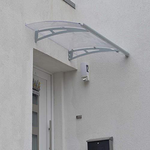 Palram Vordach, Regenschutz, Überdachung Draco 1350 klar// 135x89 cm (BxT) // Pultvordach und Türüberdachung inkl. Regenrinne