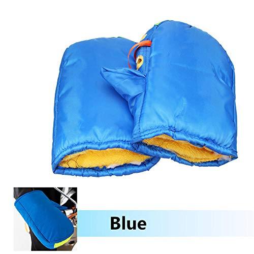 Paar Car-audio (PeroFors Motorradhandlebar Handschuhe Hand Fur Muffs Winter Warmer Windproof Wasserproof-Blue)