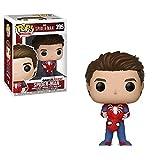 Funko- Pop Vinile Games Marvel Unmasked Spider-Man Personaggio, Multicolore, 9 cm, 30633