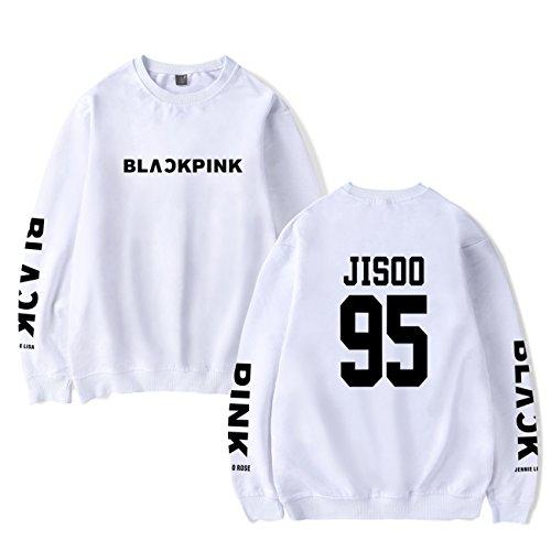 SIMYJOY Lovers BlackPink Regalo di San Valentino Pullover Felpe Hip Hop Felpa KPOP Felpa Top per Uomo Donna Adolescente bianco Jisoo 95