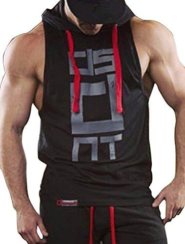 ROBO Chaleco con Capucha para Hombre Camiseta sin Manga Fitness Gimnasio Verano, EU 38-46
