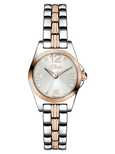 s.Oliver Damen-Armbanduhr Color Clash Analog Quarz Alloy SO-3076-MQ