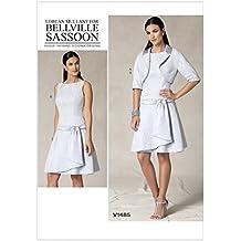 Vogue-Bolero 1485-Cartamodello per giacca, vestito, cintura& Minerva Crafts Craft-Guida