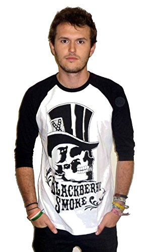 blackberry-smoke-skull-tophat-baseball-t-shirt-x-large