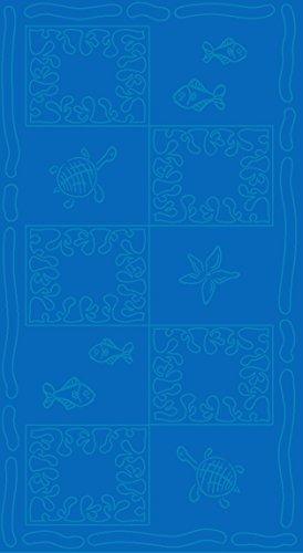 SERVIETTE DE PLAGE EN VELOURS - TAILLE XXL 100x200CM PUR COTON - TROPICAL (Ocean)