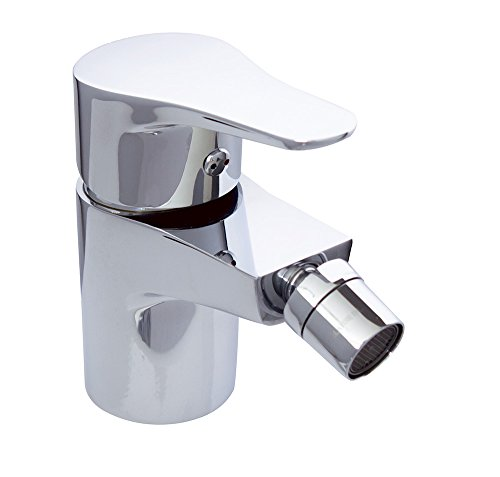 Clever Start Bidetarmatur/Wasserhahn, mit automatischer Ablaufgarnitur, metallisch