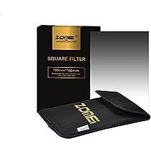 Zomei: Filtro graduado de densidad neutra ND8y GND8, filtro cuadrado graduado/gradual/gris, para fotografía profesional, GND con una bolsa de almacenamiento para Cokin Z Series. Filtros de 150 x 100 mm, 4 x 6, para Canon, Nikon o Sony