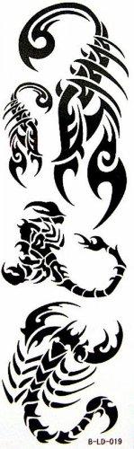 Tatouage étanche autocollants scorpion totem