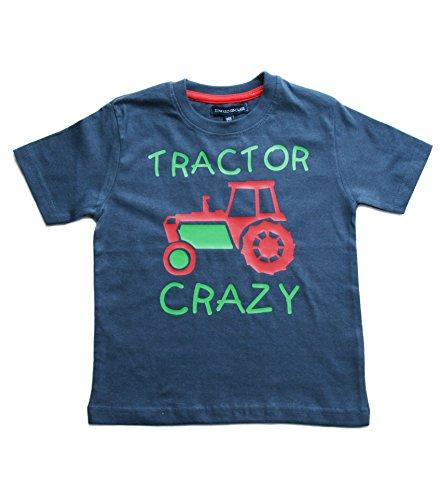 Edward Sinclair Traktor &Quot;Crazy Jungen Washed Navy T-Shirt mit Grün und Rot Print Gr. 2-3 Jahre, Navy -