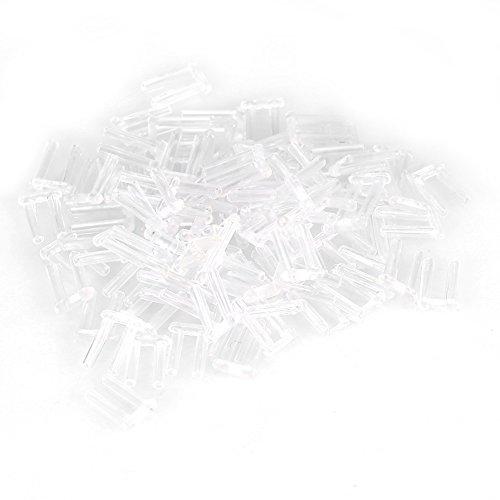 Nosii 3 Arten 100er Kunststoff-Kompressionshülsen für randlose Brillen Zubehör Werkzeuge (Size : 1.5 * 0.8 * 7.0)