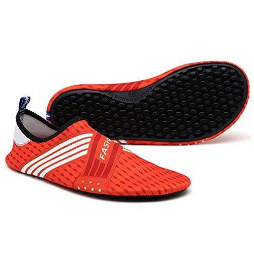 LvRao Damen Und Herren Strandschuhe Elastischen Material Aquaschuhe Meer Flusswasser Schuhe Wasserschuhe Orange