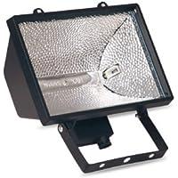Evila - Foco halogeno+lámpara 1000w ip44 negro