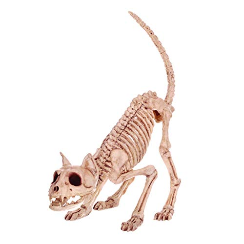 QAR Halloween Dekoration Spuk Haus Katze Knochen Horror Stick Film Requisiten Desktop-Dekoration Halloween