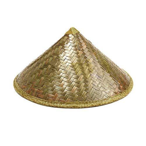 er orientalischer Coolie Sun Hut gestrichener Bambus-Strohhut-Tourismus-Regen-Kappen-konischer Landwirt-Unisexfischereis-Hut ()