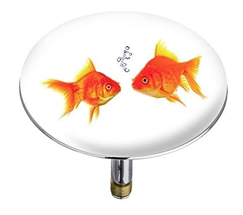 Wenko 21845100 Pluggy Bouchon de Baignoire Fishes Multicolore Taille XXL