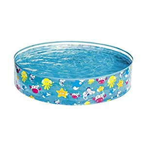 Best Way 48x10 Fill 'N Fun Pool Rigida Fantasia Mare Cm 122X25 Piscina Gioco Estivo Estate 648, 48 x 10 (122 x 25 cm)