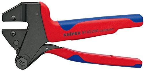 Knipex 97 43 200 A Pince à sertir universelle avec gaines bi-matière pour profils de sertissage interchangeables brunie 200 mm