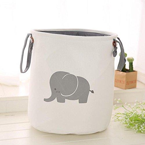 Jade Aufbewahrungsbehälter Elefant Katze Faltbare Tasche Wasserdicht Stoff Dicke Doppelschicht Wäscheeimer,C