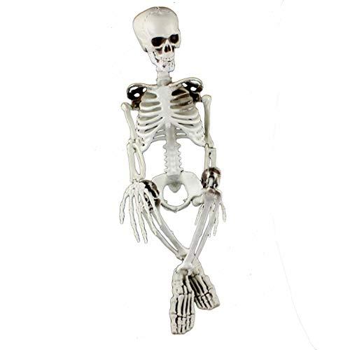 Toasye Menschliches Skelett Goods & Gadgets Deko Skelett Party & Halloween Dekoration Ganzkörper Horror Skeleton