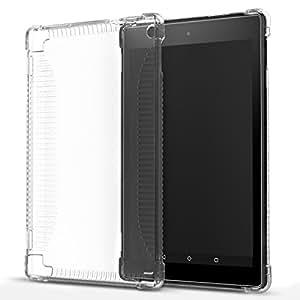 MoKo Amazon Fire HD 8 (2016 Modello) Case - Custodia di TPU Morbido con Retro Semi-trasparente di Gomma per Fire HD 8 Tablet (6ª Gen, 2016 Modello SOLO), Trasparente