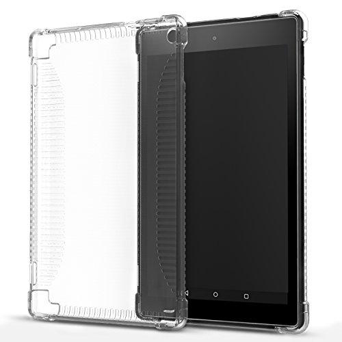 MoKo Hülle für Fire HD 2016 8 Zoll - Ultra Slim Flexible TPU Kristall Klar Rückseite Schutzhülle Crystal Clear Case Durchsichtig Cover für Fire HD Tablet (Vorherige 6. Generation - 2016), Transparent - Generation Crystal Clear Case