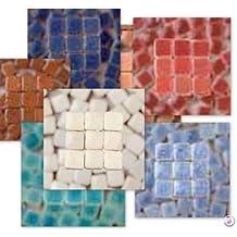 MosaicMicros 5 x 3 mm 10 G 100 Piezas Azulejos de Mosaico de cerámica esmaltado Mini