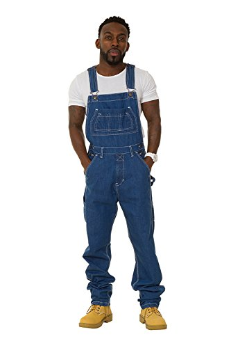 Mens Regular Fit Denim Dungarees Stonewash (XXL) Value overalls cheap dungarees MENSVALUESW-40W