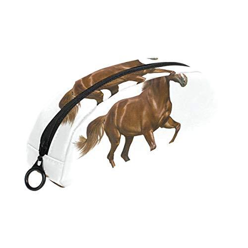 FANTAZIO Stifteetui für Mädchen, braunes Pferd, weißer Hintergrund