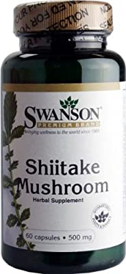 Swanson Shiitake Mushroom (500mg, 60 Capsules) from Swanson Health Products