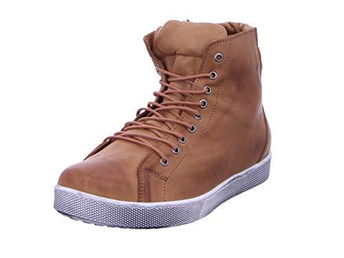 Andrea Conti Damen 0347843 Hohe Sneaker, Braun (Brandy 100), 39 EU