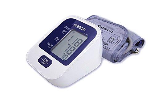 OMRON M2 Basic -  Tensiómetro de brazo digital,  tecnología Intellisense para dar lecturas de presión arterial rápidas,  cómodas y precisas