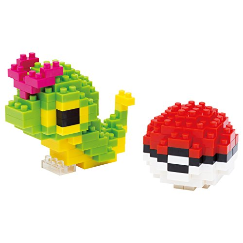 nanoblock Pocket Monster Pokemon Caterpie&Monster Ball NBPM_010