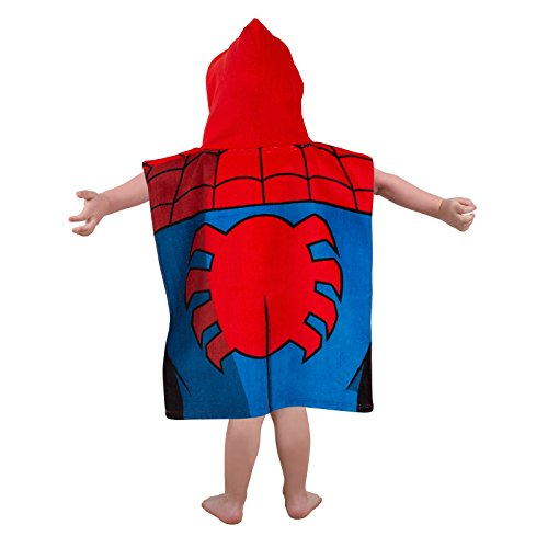Ultimate Spiderman City Handtuch Poncho mit Kapuze - 2