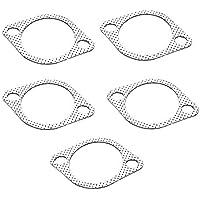 Junta de tubo de escape de aluminio, 5 piezas 3 \'\' Junta de metal de tubo de escape de cerámica con anillo reforzado de bajada de bajada de 76 mm