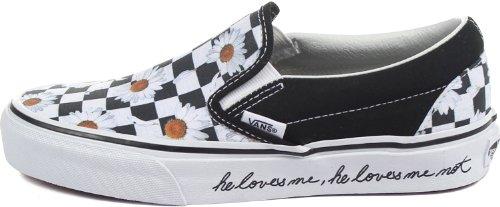 Vans U Classic Slip-on, Baskets mode mixte adulte Negro / Blanco (Love Me Love Me Not)