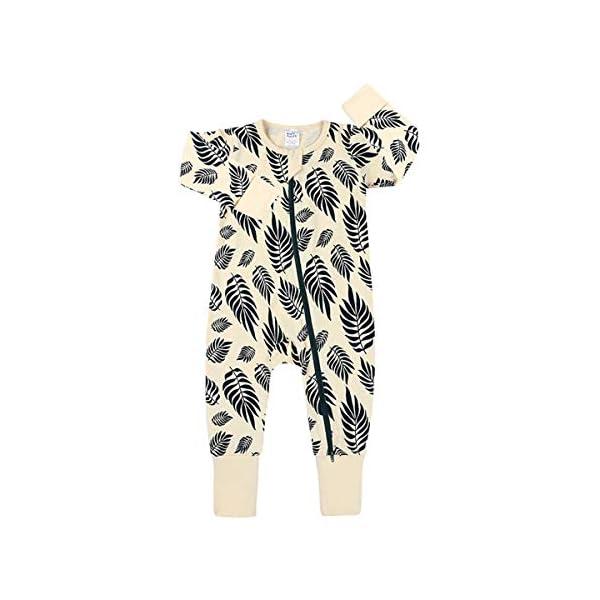 Mibuy Ropa Bebe Recien Nacido, Conjuntos Baby Onesies Mono De Algodón Suave con Cremallera Pijama De Manga Larga… 1