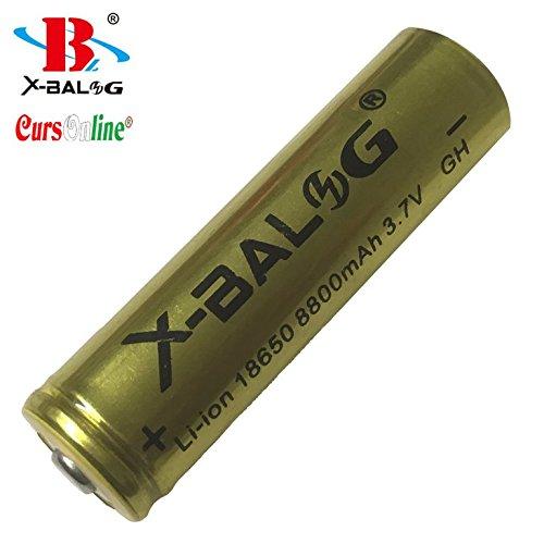 Galleria fotografica CursOnline® Batteria X-Balog Ricaricabile di Elevata Potenza e Senza Effetto di Memoria 'Qualità GOLD' mod. 18650 8800mAh Li-ion 3.7V/4.2V. L'elevata capacità di rilascio della potenza dei suoi 8800mAh ed i suoi 3.7V/4.2V di tensione, fanno di queste batterie il miglior compromesso tra qualità e risultato. Veramente di Eccezionale Qualità. CoL612-16