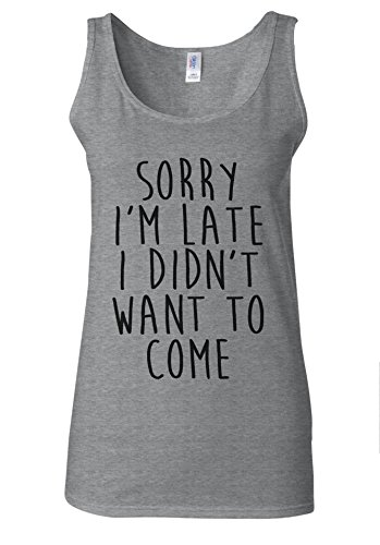 sorry-im-late-i-didnt-want-to-come-novelty-forest-sports-grey-women-vest-tank-top-l